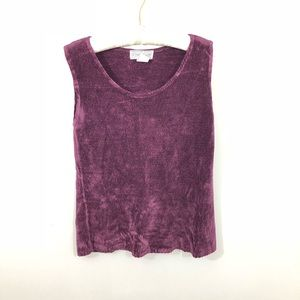 Vntg Saks Fifth Avenue Folio Collection Ribbed Top